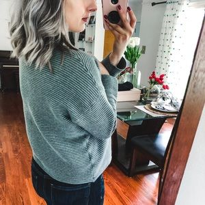 H&M Sweaters - H&M Basic Grey Ribbed Sweater Medium